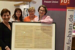 Frauen Union Haan feiert 70. Geburtstag Grundgesetz im Golfclub Düsseltal